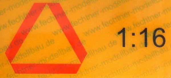 ECE69 naklejki z tyłu oznakowania. 1 / 16 z ruchu żółty
