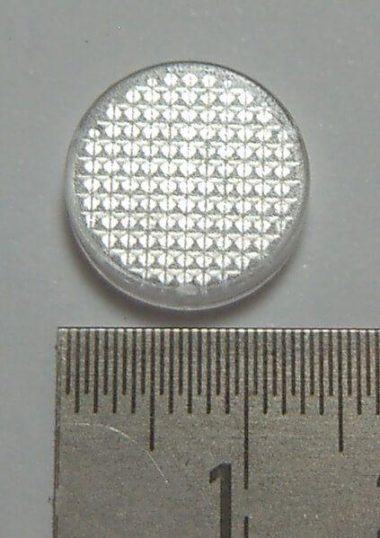 Casquillo 1, claro Makrolen, 12x2mm coincide con el