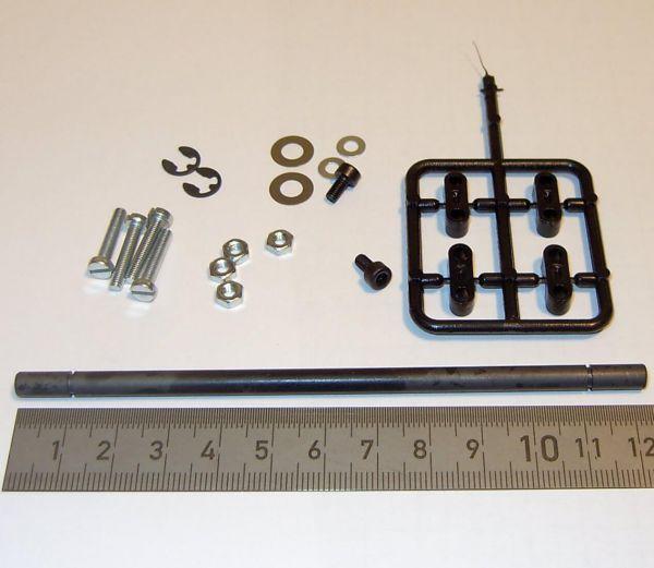 Hängerachse (5mm) mit Federaufnahmen (2306)