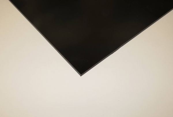 Polystyrol-Platte 3,0mm, schwarz ca. 500 x 400 mm