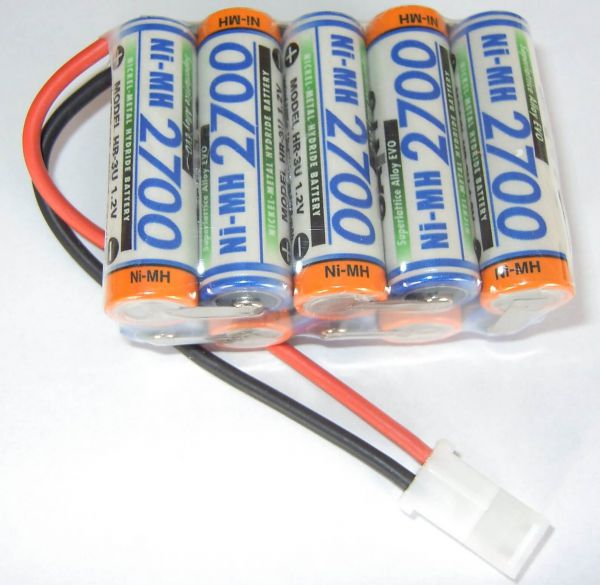 El paquete de baterías con células células SANYO 10x 12V F5x2 10 2700mAh
