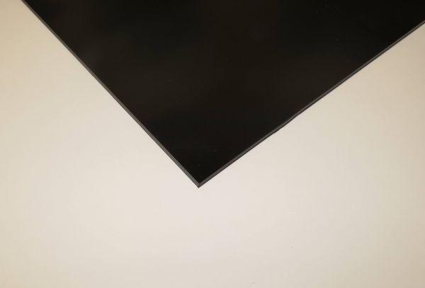 1x panel polistyrenu 0,5mm, czarny ok 250 200 mm x