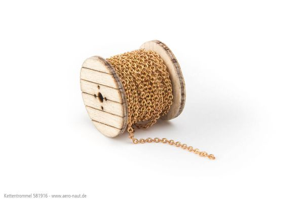 Bęben łańcuchowy z łańcuchem kotwicznym. Zestaw lasera i drewna