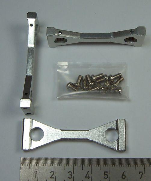 1 Satz Alu-Rahmenverbinder (Traversen) 3 Stück. Passend