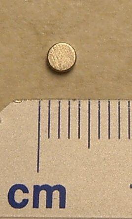 Neodym Magnet, rund, 3mm Durchmesser 1mm dick, hohe
