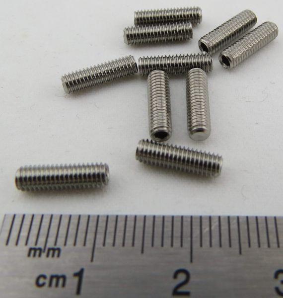 50 Stück M3X10 Gewindestifte DIN 913 Edelstahl A2