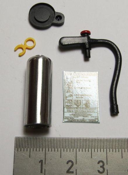 1 blanker BAUSATZ Feuerlöscher mit langem Griff, Wedico-Größ
