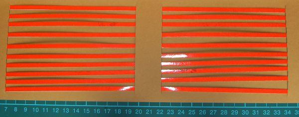 Warnstreifenset 4mm szerokość pasków, czerwono-reflex, o 280mm