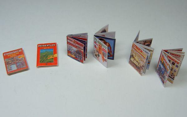 Miniatur-Zeitschriften-SET. Z.B. zur Ausgestaltung des