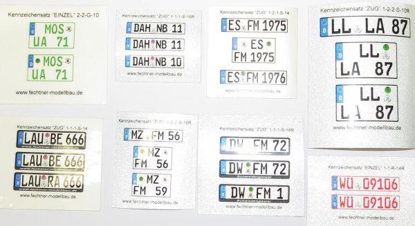 Euro-Kennzeichen, einzeln REFLEKTIEREND 1