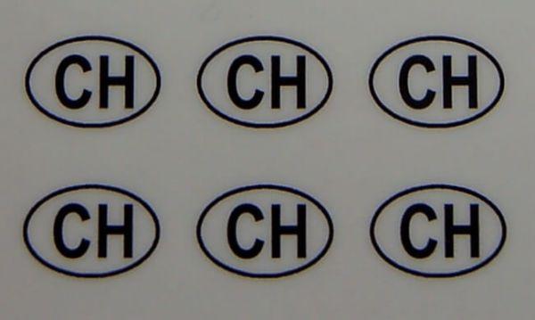 6 Nationalitätskennzeichen . 8mm hoch passend zum
