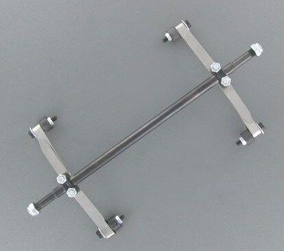Lowbed aks (6mm), çelik, toplam genişliği yaklaşık 176mm. ile