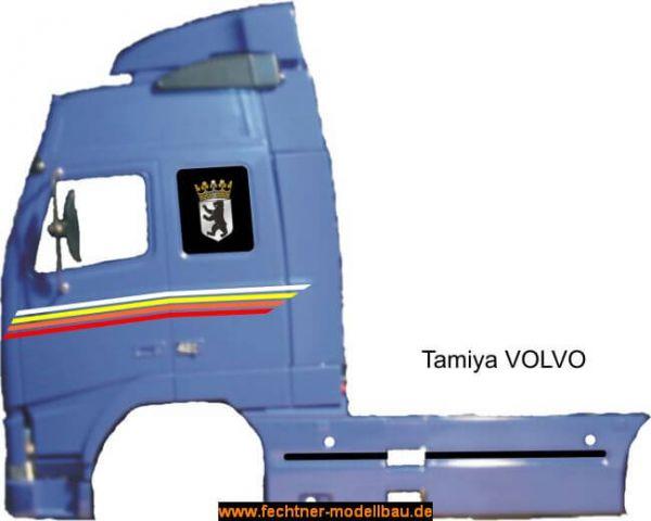 Folien-Dekor aus hochwertiger Selbst- klebefolie, für Volvo