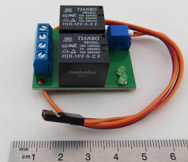 1x 2-Kanal-Schalter (2x 10A) / 2 Relais. 2 Verbraucher könne