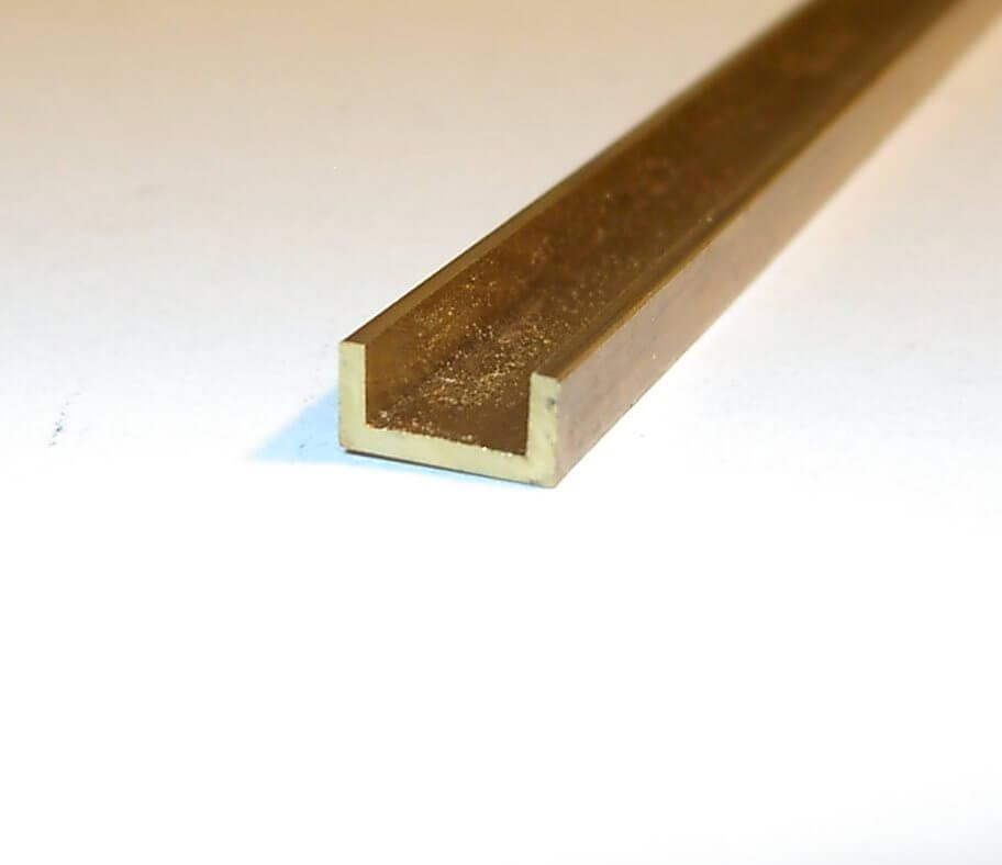 messing u profil 1m lang 10x10 mm materialst rke 1 00 mm u profile messing profile. Black Bedroom Furniture Sets. Home Design Ideas