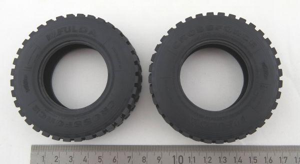Tamiya, içi boş, TAM ölçekli 83mm, 1 çift için Arazi lastikleri