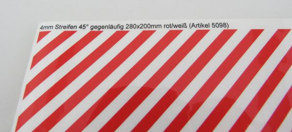200x280mm ilgili Dekorbogen Warnstreifen Standart