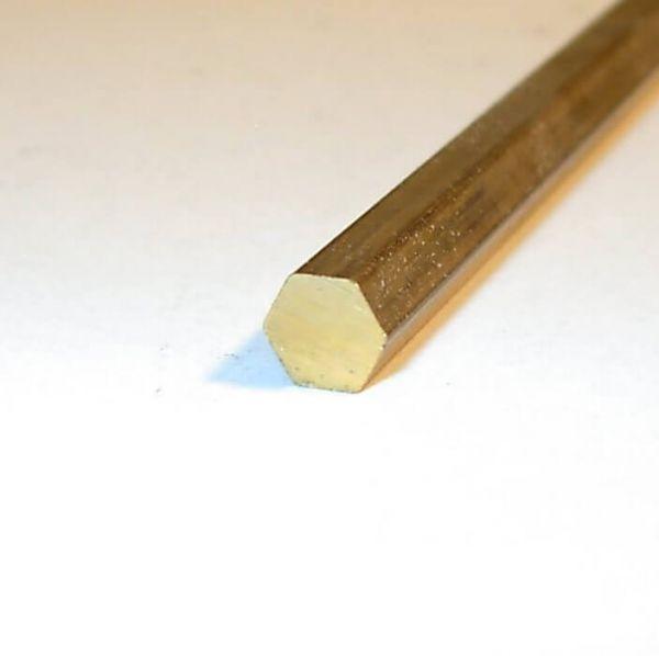 Sechskant-Messing SW 1,5 mm, 1m lang Bohr- und Drehqualität