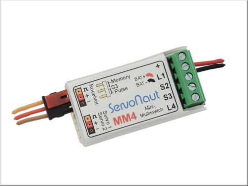 1x Mini MultiSwitch MM4 With 4 Functions On
