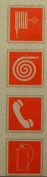 Gaśniczy zestaw ikon 10x10mm 4 skalę identyczne symbole