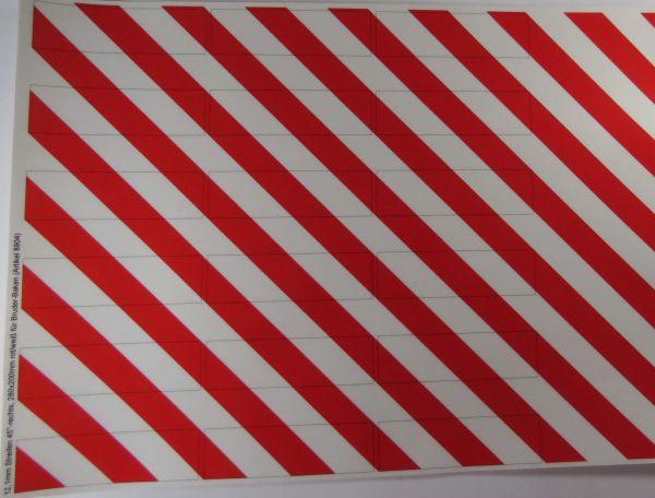 1 Dekorbogen Warnstreifen standardı, yaklaşık 200x280mm