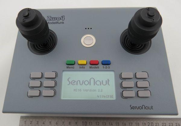 Nadajnik Servonaut HS-16, 3D-Stick, 2,4GHz, szary
