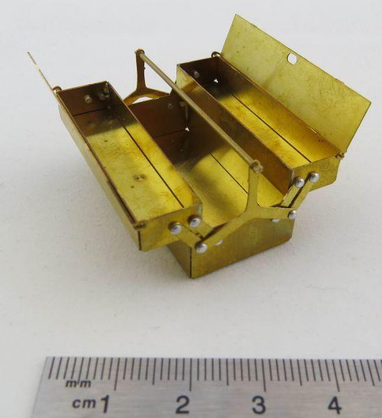 Werkzeugkasten, geätzt, (Fertig gebaut). Für Maßstab 1:10. M