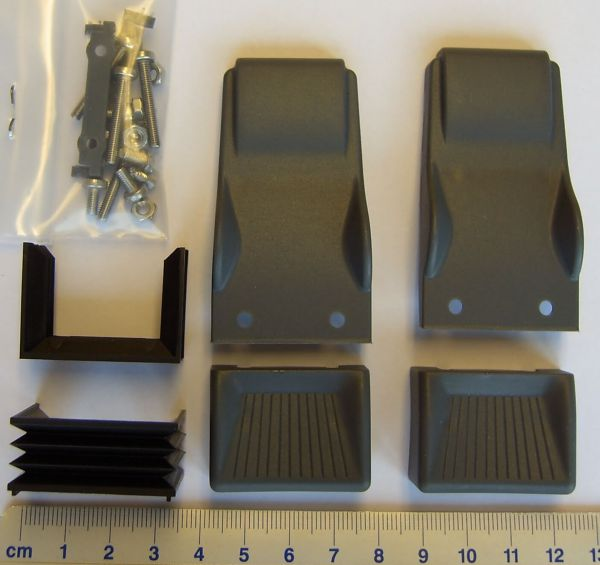 Schalensitze (2 Stück) grau, Kunststoff Wedico-Maßstab