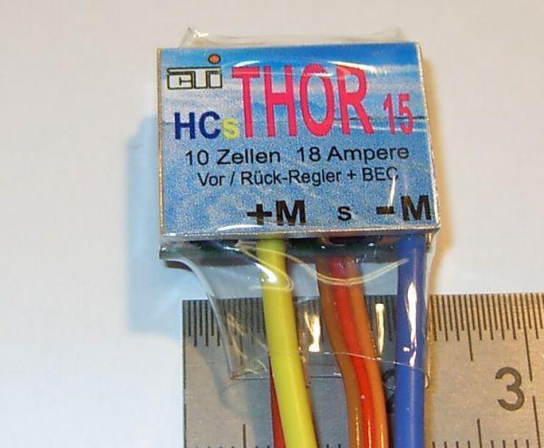 1x Fahrregler THOR 15 HCs, bis 15V max. 18A,