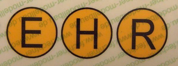 H/R/E-Schilderset 1/14,5 Hinweisschilder für