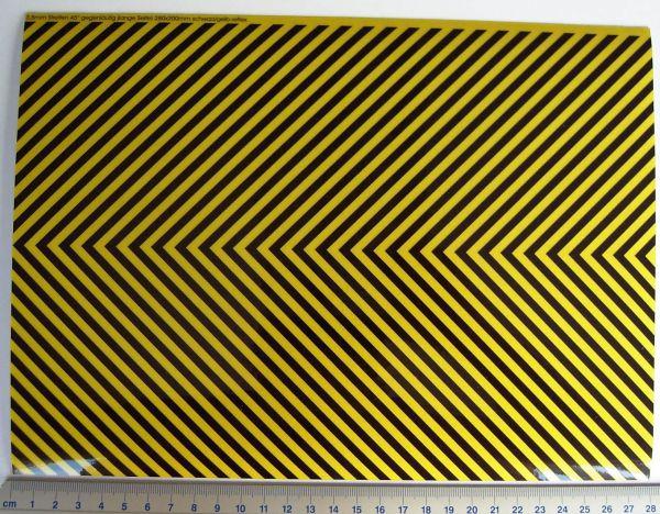 200x280mm ilgili Dekorbogen Warnstreifen yansıtıcı
