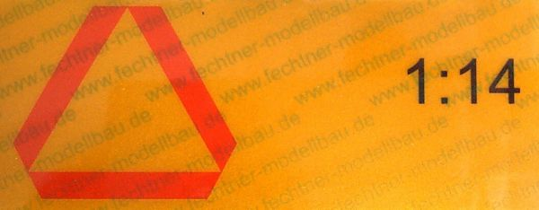 ECE69 sticker to rear marking. 1 / 14 from traffic yellow