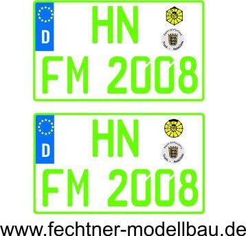 """Euro-Kennzeichen-Set """"""""EINZEL"""""""" 2-2-G-8R 2"""