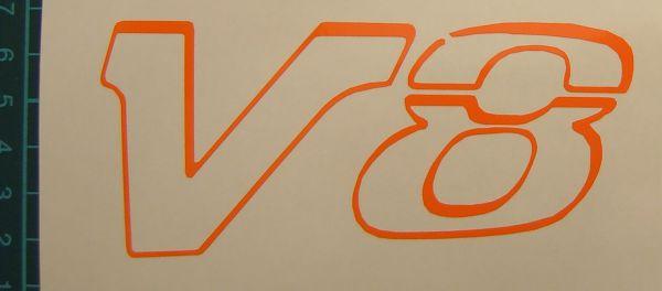 "1 Folien-Decal ""V8""-Symbol 50mm hoch aus hochwertiger"