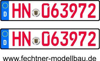 """Euro-Kennzeichen-Set """"EINZEL"""" 1-1-R-10R 2"""