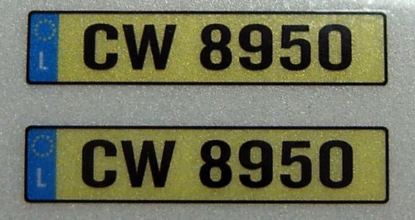 Set of license-plates for LUXEMBOURG. 2 plates,