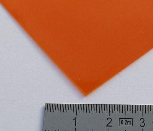 1 PCV przezroczysty arkusz o barwie pomarańczowej 0,23mm o grubości ok