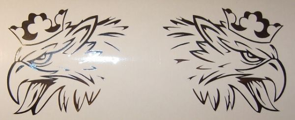 """Folienschnitt 1-farbig """"WILDER GREIF"""" links/rechts bis 80mm"""