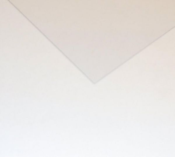 1x Polystyrene panel 6,0mm, white, approximately 500 400 mm x