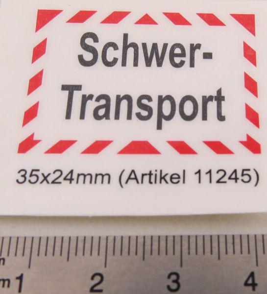 """1 Textschild """"Schwertransport"""" 2-zeilig selbstklebende Foli"""