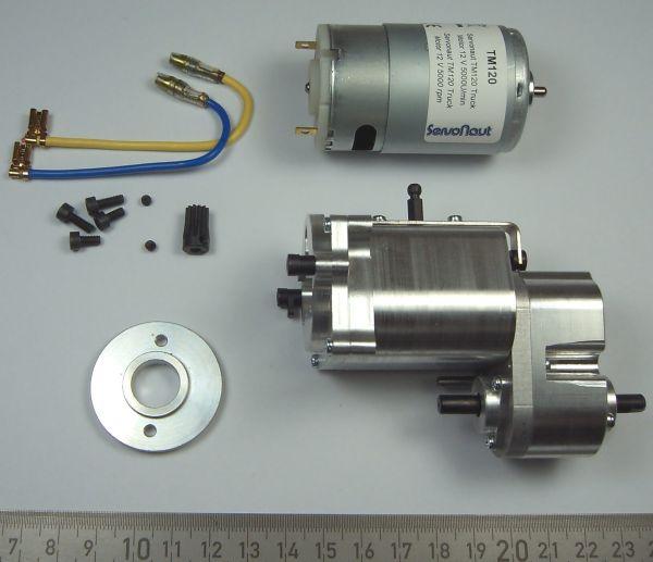 3-Gang Schaltgetriebe mit zuschaltbarem Verteilergetriebe