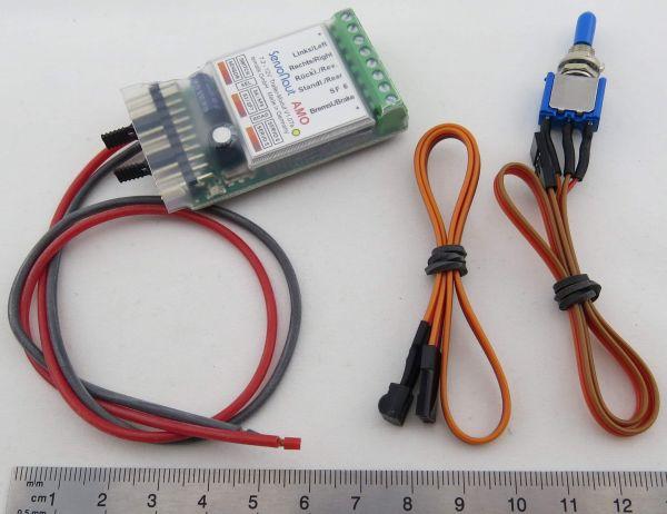 elektronika Trailer AMO, z odbiornikiem podczerwieni, 7,2V-12V