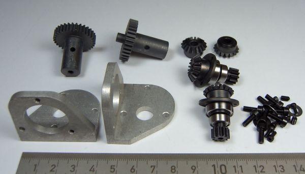 1 Getriebe-Antriebssatz für die Ketten- laufwerke der