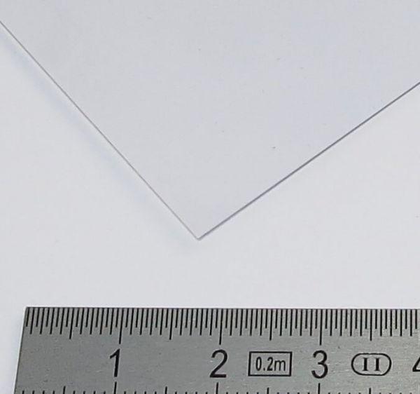 1 płyta PVC przezroczysty 0,40mm o 328 427 mm x