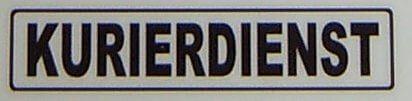 """Tekst etykiety """"KURIER"""", czarny, 1: 12 własny"""
