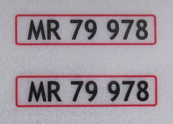 1x Set of license-plates for DENMARK. 2 plates,