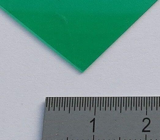 Płyta PVC przezroczysta zielonym kolorze 0,23mm grube ca.194 x