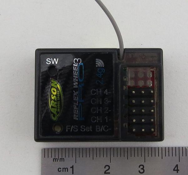 1x 2,4GHz-Empfänger mit 4 Kanälen. Für CARSON Reflex Wheel