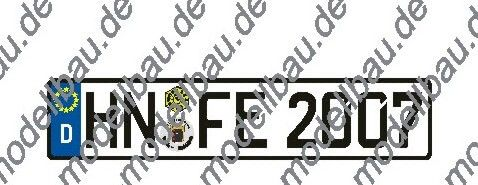 Euro-Kennzeichen, einzeln 1 WUNSCHkennzeichen, 1- oder