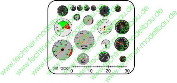 Araçlar sticker seti, giga, 19 3 aletleri-11mm